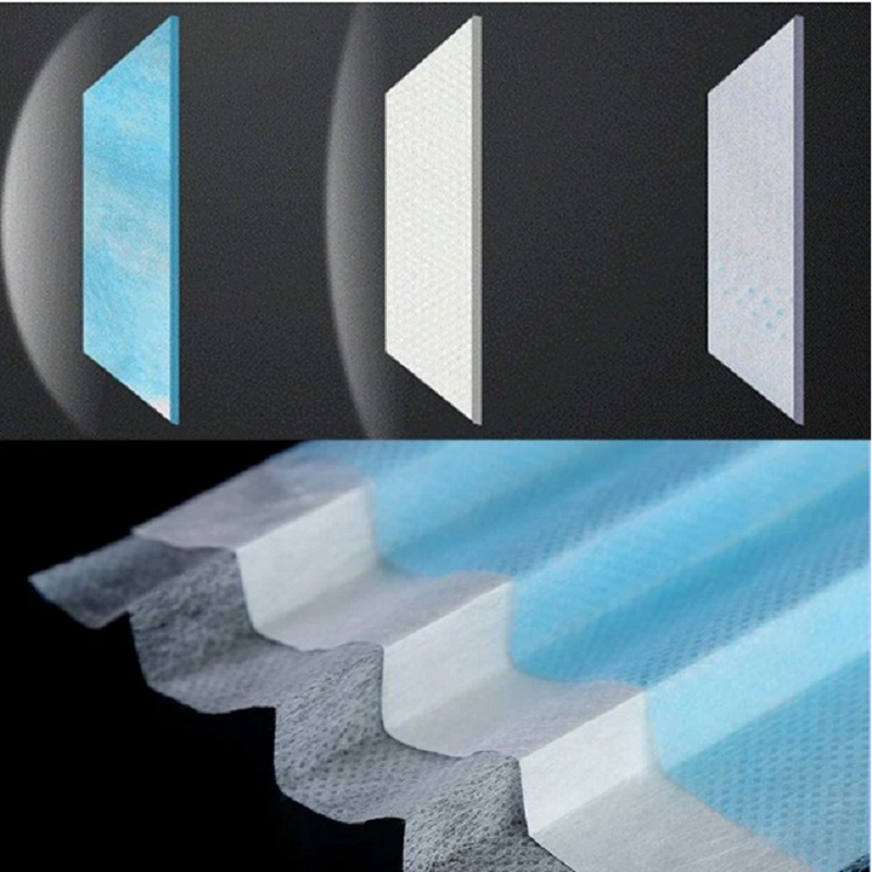 polypropylene nonwoven manufacturer melt blown NonWoven Fabric KN95 Materials for doctor cloths