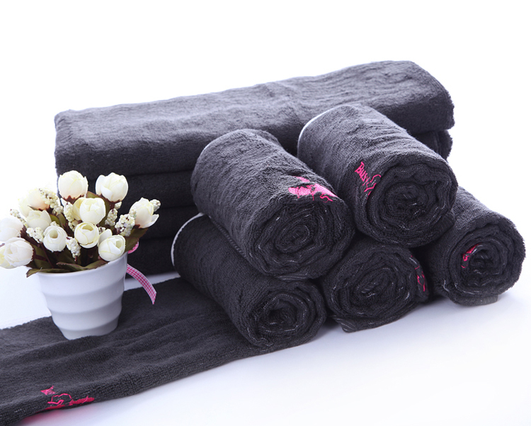 Factory Price 100% Bamboo Charcoal Hand Towel Face Towel Sets with Logo