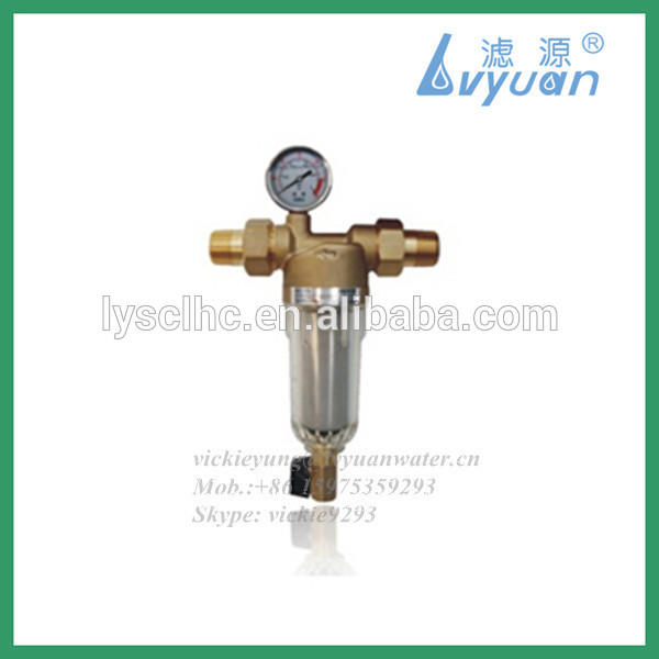 Wholehouse small type pre filter water sediment sand filter with nylon net filter