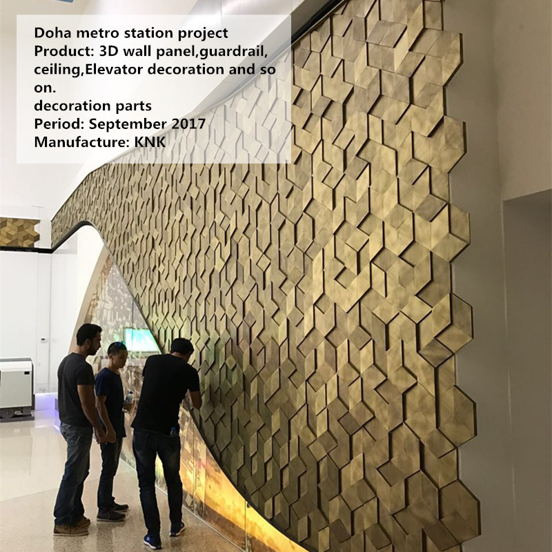 Foreign engineering decoration project metal custom decoration case wall panel decoration custom