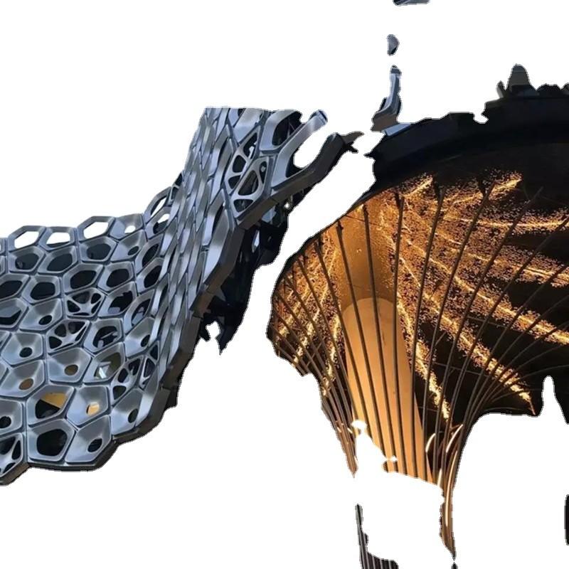 Australia W hotel stainless steel decoration project stainless steel customization metal decoration engineering