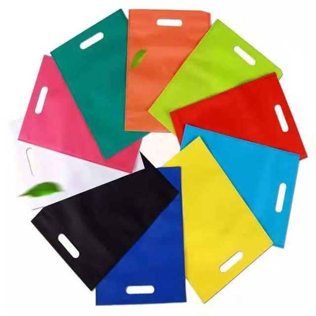 Sunshine Good Quality PP Spunbond Shopping Nonwoven D-Cut Bag