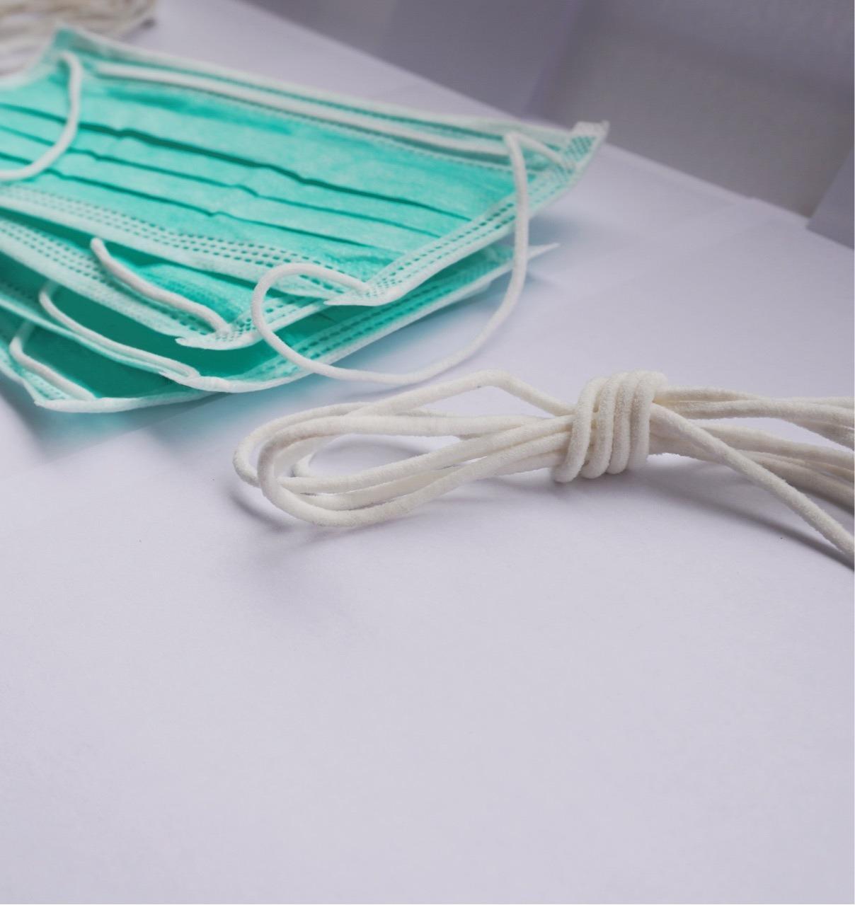 Good Price Factory Supply Round 3mm Earloop White Color Elastic Earloop Elastic Band