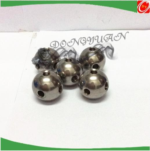 20mm metal steel ball with four thread holes