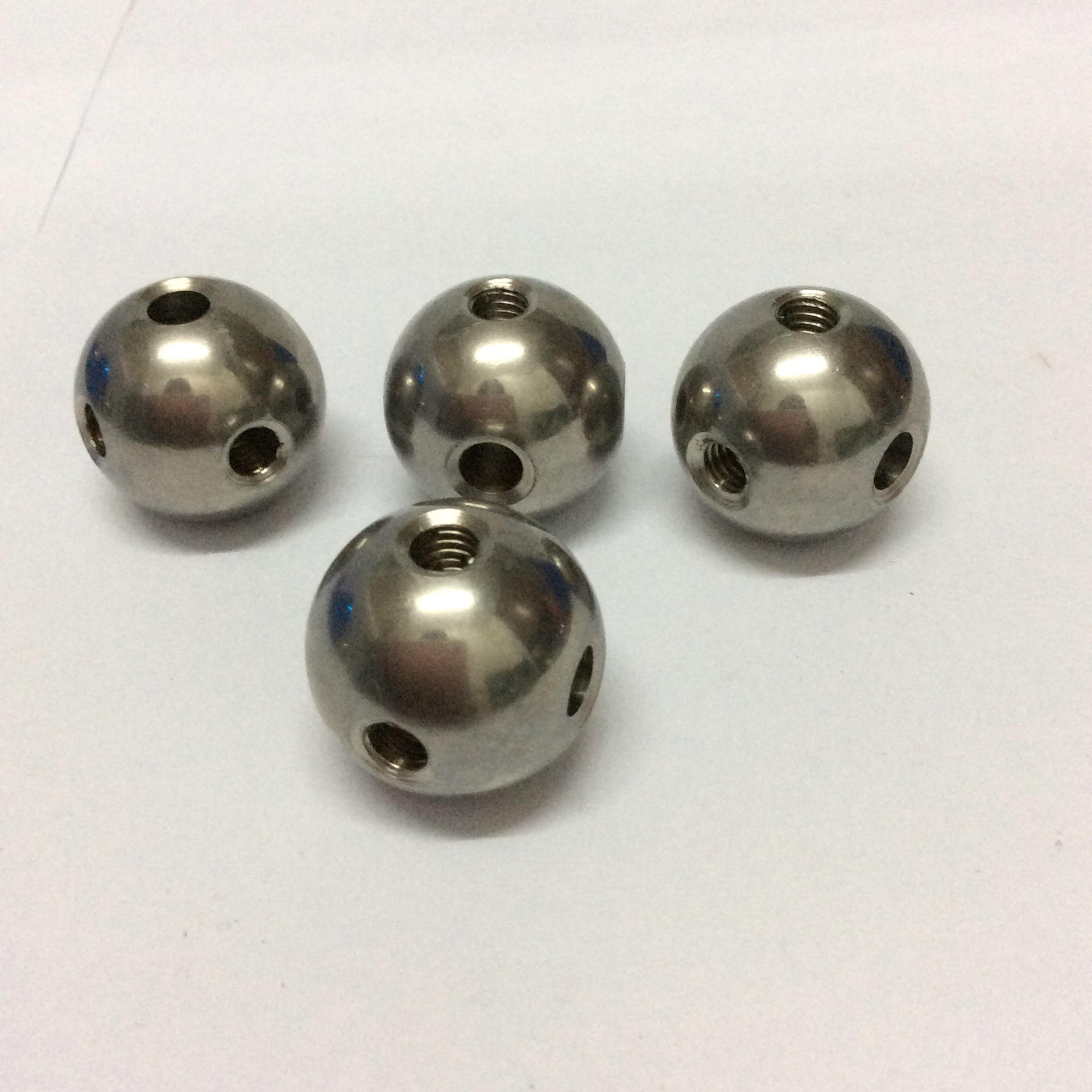 metal balls threaded