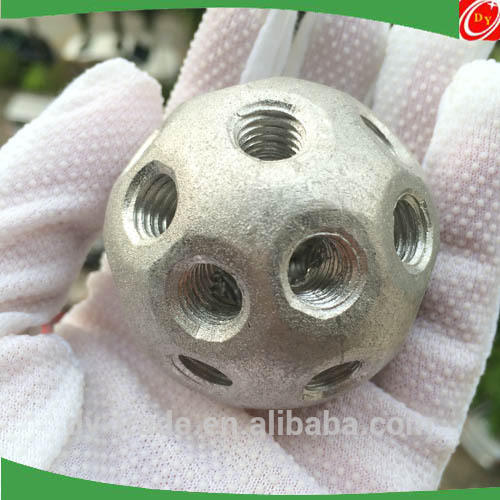 M6 Solid Aluminum Drilled Tapped Holes Ball Spheres for Construction