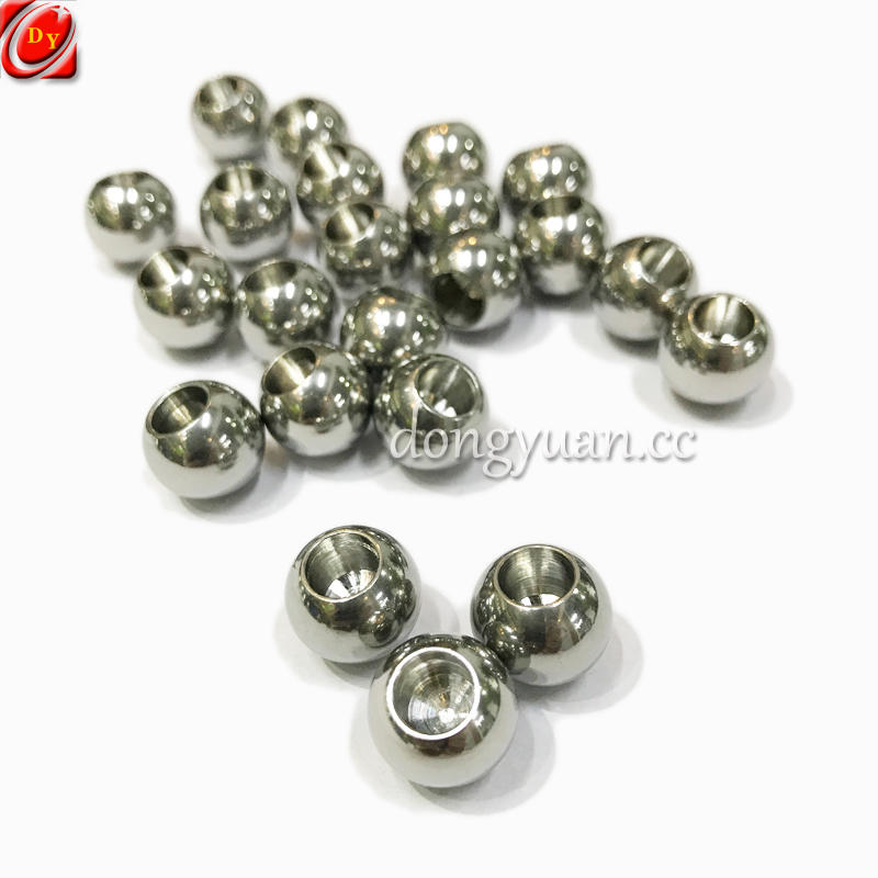 Solid Rolling Stainless Steel Ball Beads with Blind Hole