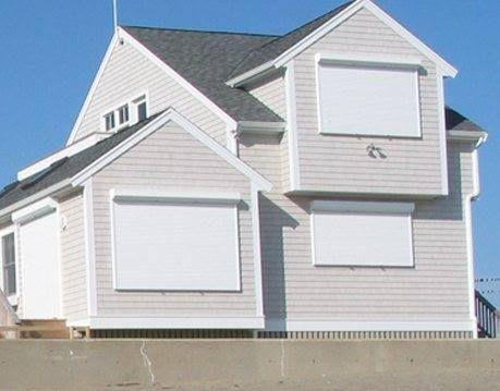 1600x1000 45 Slat Steel Hurricane Aluminum Window Shutters