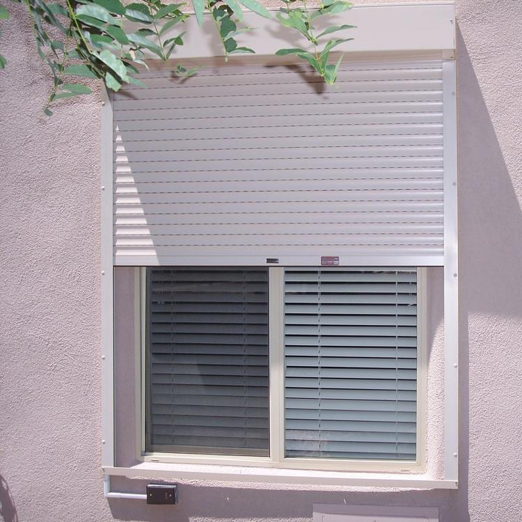 1000x1400 45mm Slat Aluminum External Shutter Window for Residential