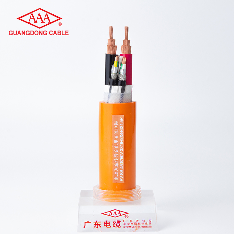 450/750V Copper Conductor Copper Wire Braided Shielded TPE Insulated Charging Cable For Electric Vehicle