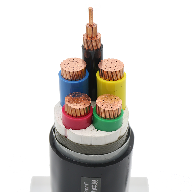 4 core phrase 185mm + 1 core 95 mm armored power cable 4+1 copper pvc outer sheathed cables for construction project