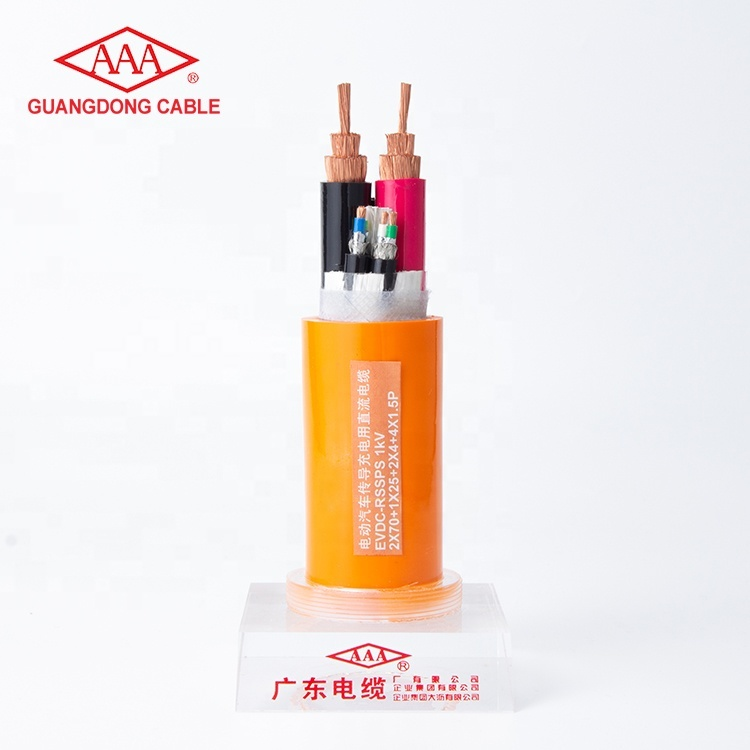 1KV Copper Conductor Copper Wire Braided Shielded TPE Insulated Electric Vehicle Charging Cable