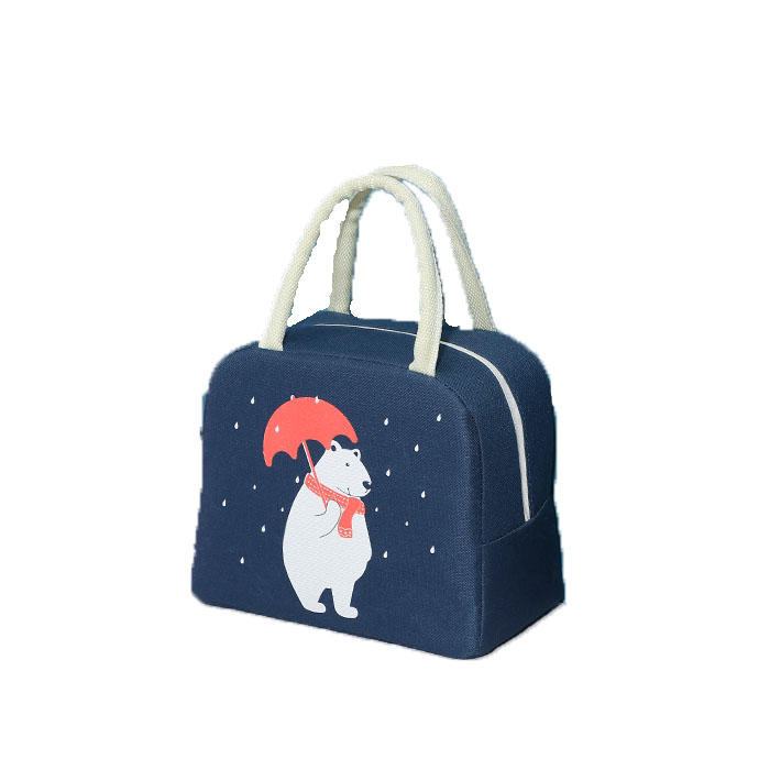 tue cartoon lunch bag for women new pink panda girl hand cooler bags portable thermal school breakfast picnic food box
