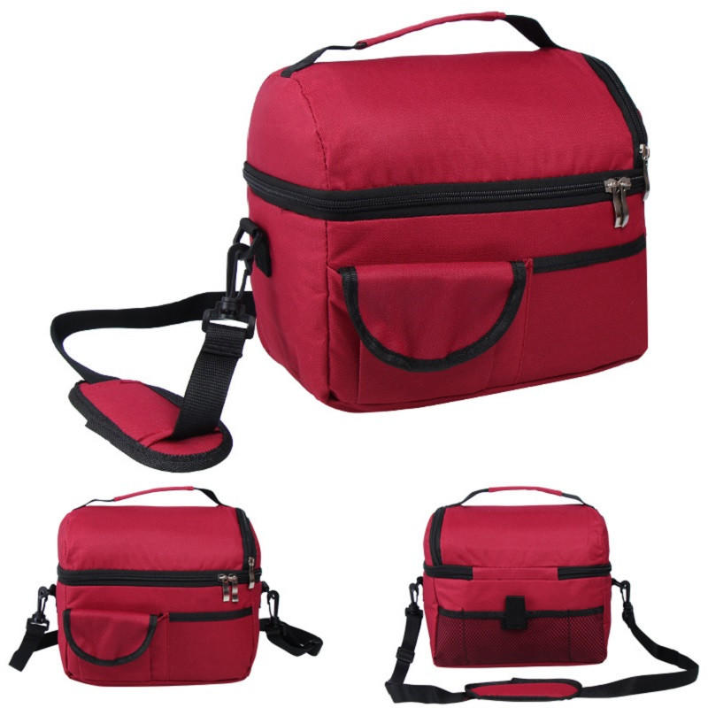 Newest fashion large capacity Adult Kids Portable Insulated Lunch cooler Bag Work Picnic Bag Food Storage Lunchbox 8L /BL15