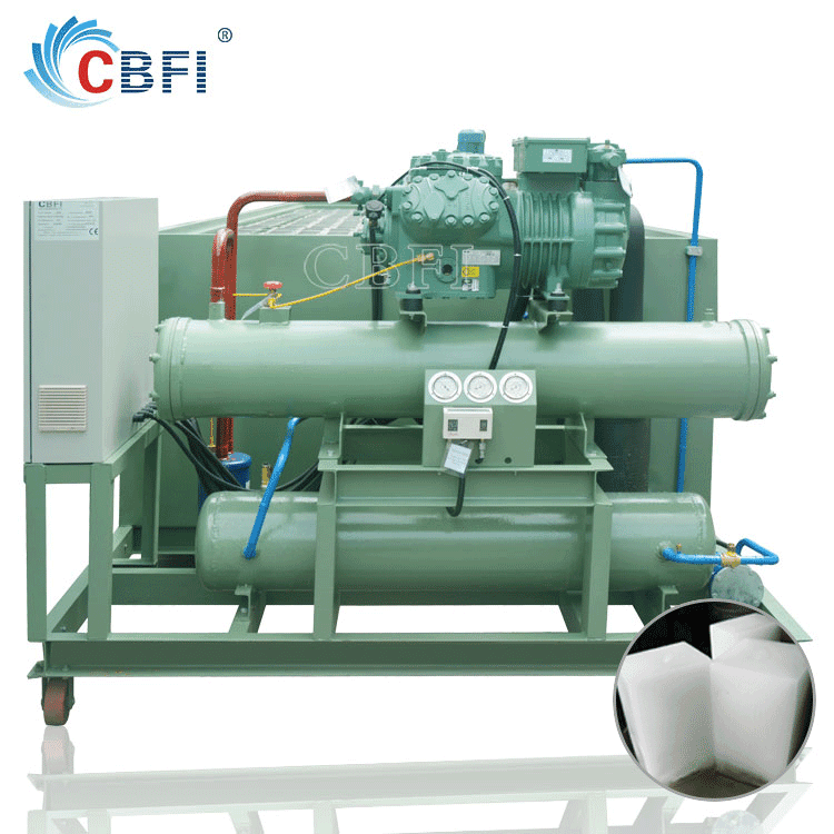 flexible pipe installation easy to move block ice plant