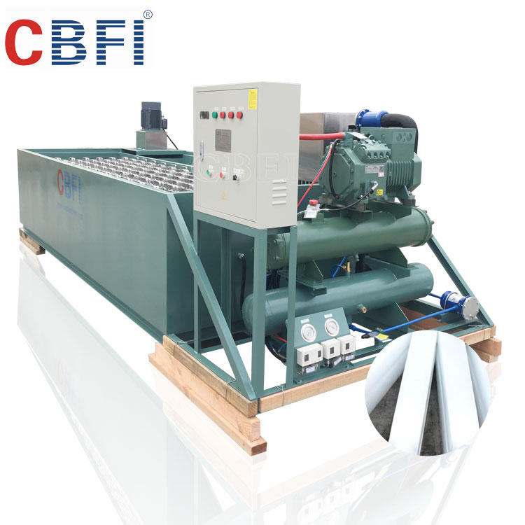 3000kg commercial ice block making machine with water cooler condenser