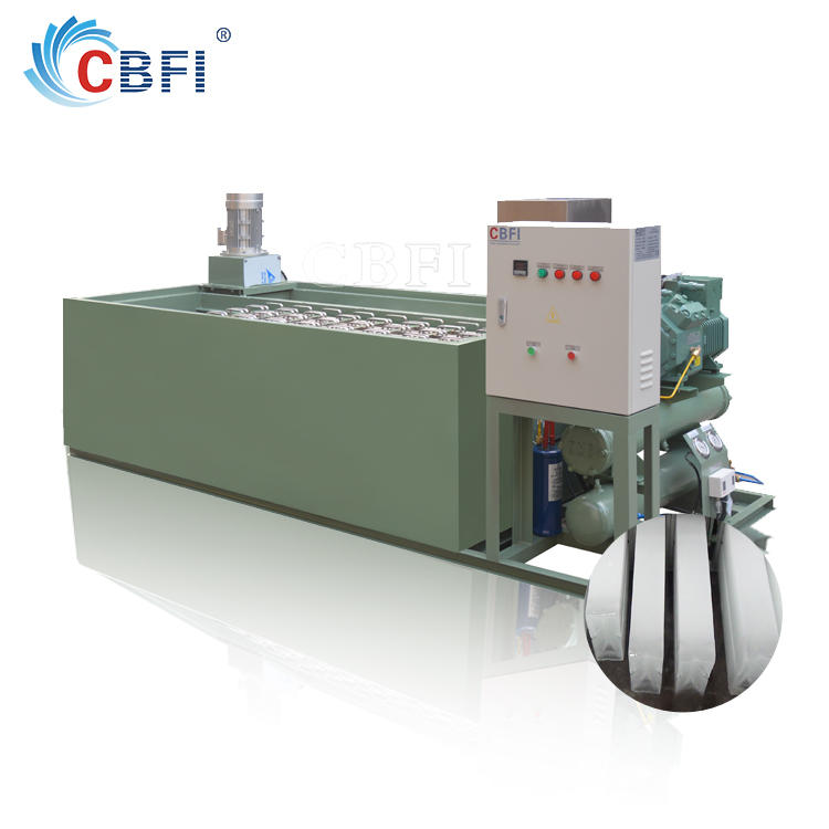 Large block ice plant with stainless steel ice mold to make ice