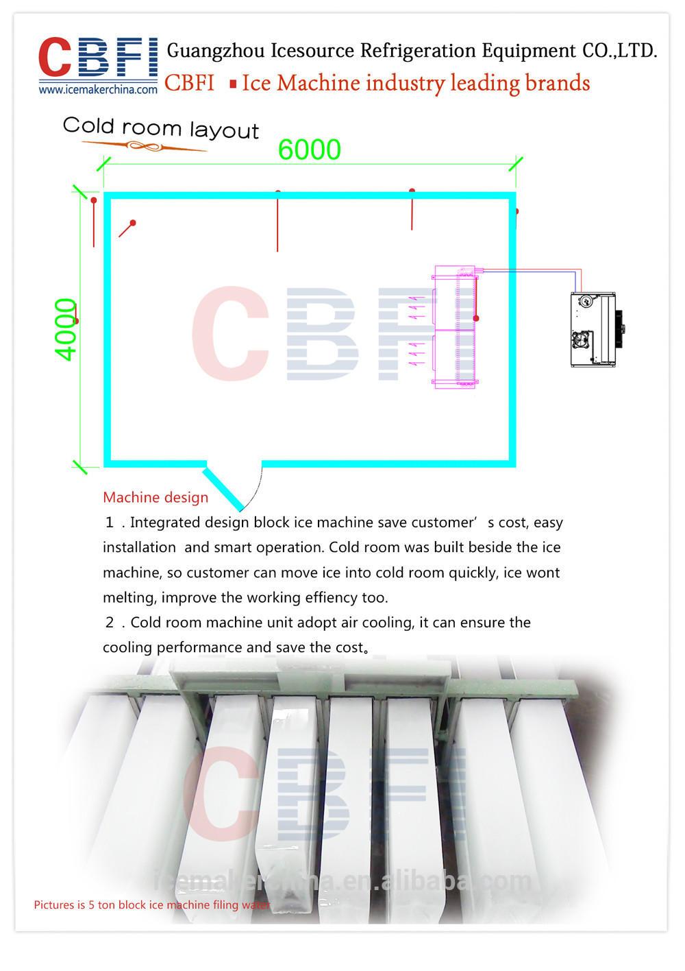 CBFI 20 Tons Block Ice Machine In Sudan