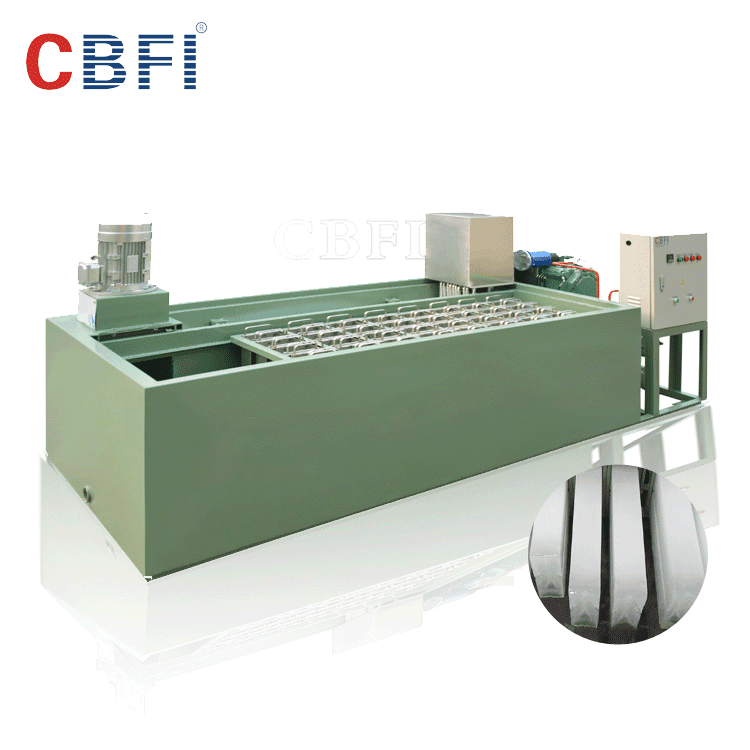 30 tons testing Ice block maker machine coil evaporator cooling