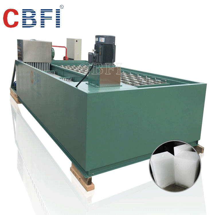 Commercial industrial saltwater cooling ice block making machine for sale