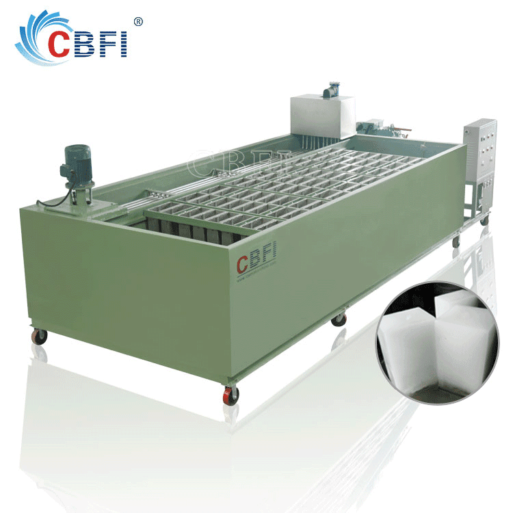 convenient transportation commercial ice maker ice block making machine