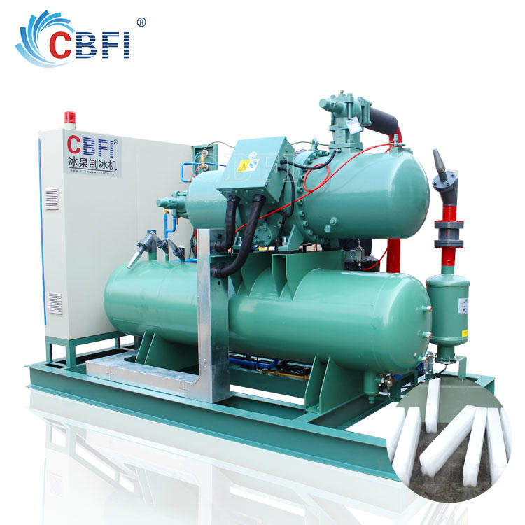 Fully automatic stainless steel 100ton industrial ice block making machine in Malaysia