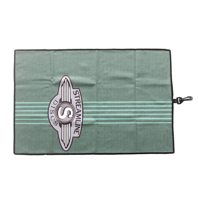 Custom print quick drying waffle hook sport towel