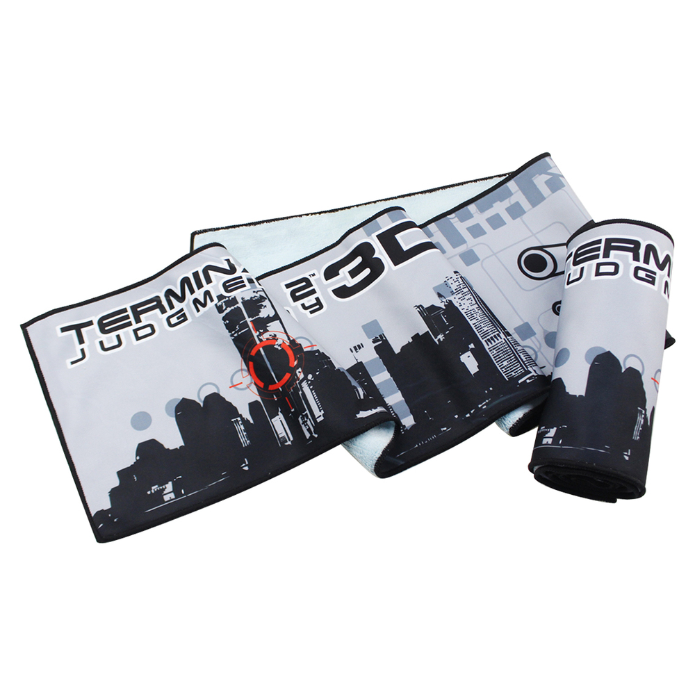100% polyester coral fleece composite sublimation printed sports towel