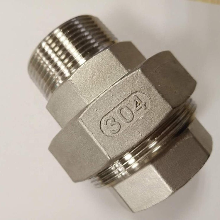 stainless steel pipe fitting union adapter