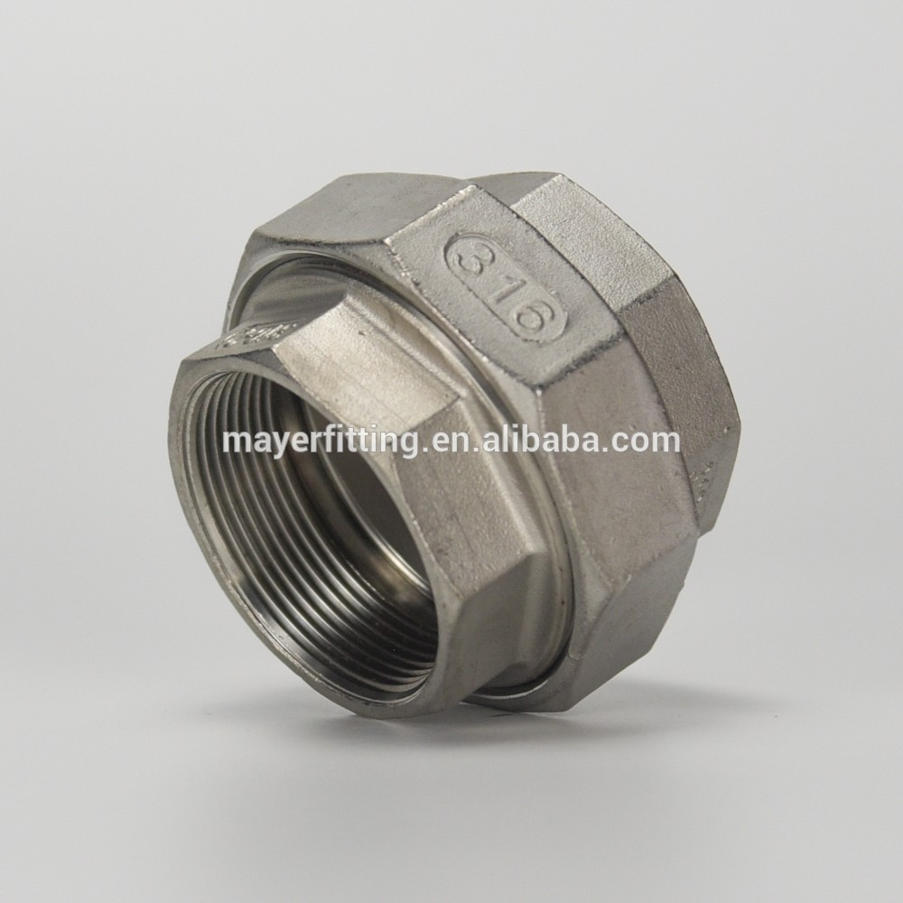 China supply male female union fitting stainless steel hydraulic fitting