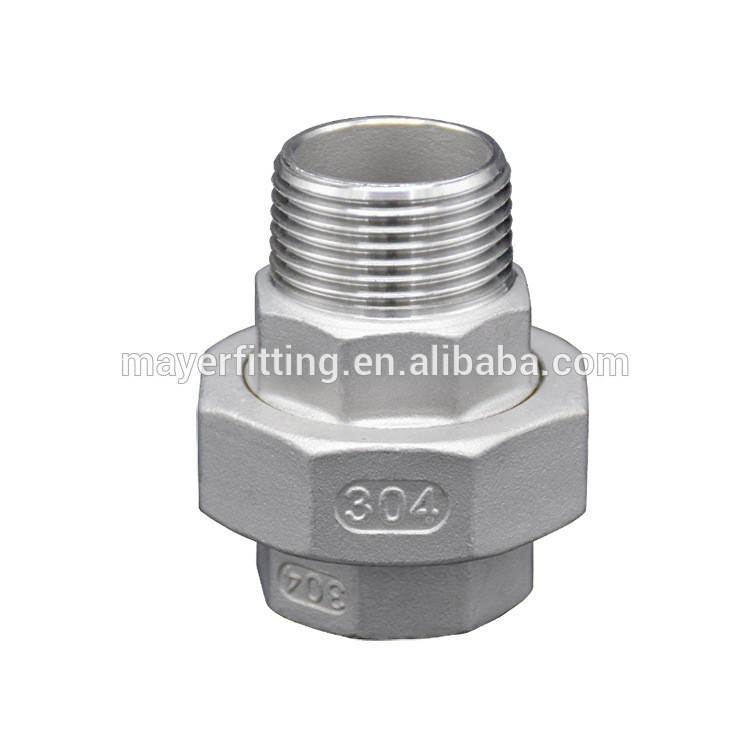 factory directly supply union with female and male thread stainless steel fitting