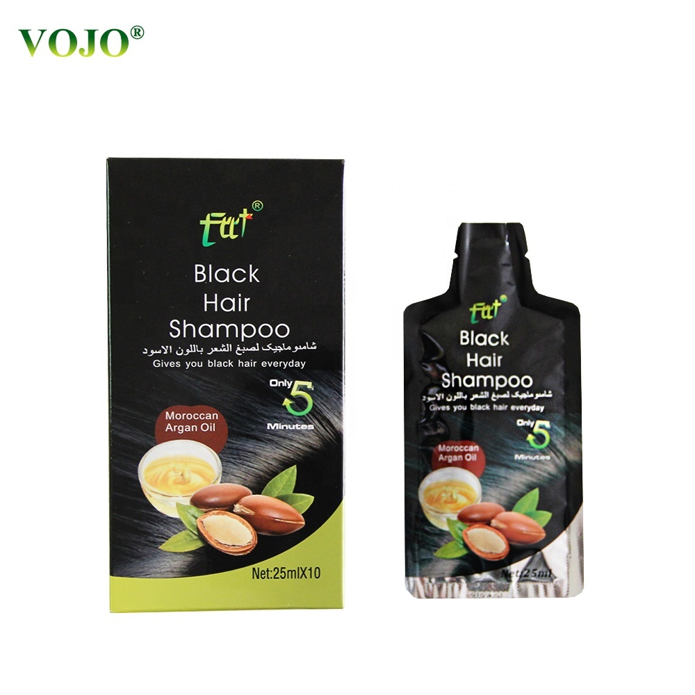 Hair Dye in 5 minters shining black hairshampoo Fashion Factorywholesale price with excellent quality