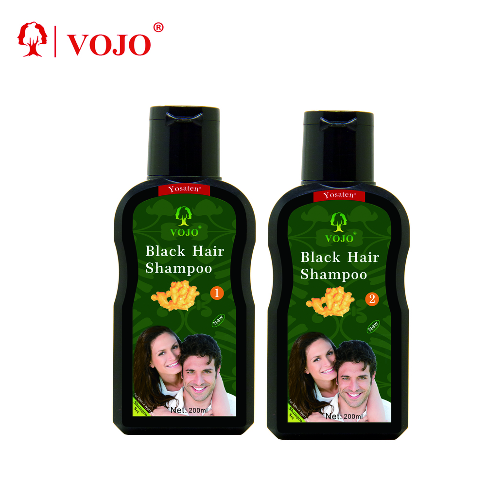 VOJO private lab best sale extract ginger ammonia free herbal black hair color shampoo naturaloem product