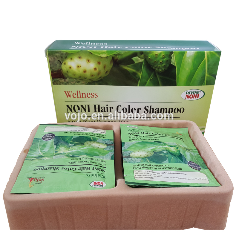 Noni easy use natural black 5 mins hair darkening hair dye shampoo