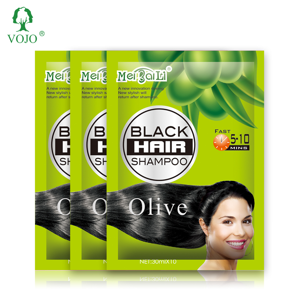 VOJO factory top quality permanent black hair dye without ammonia fast hair color shampoo