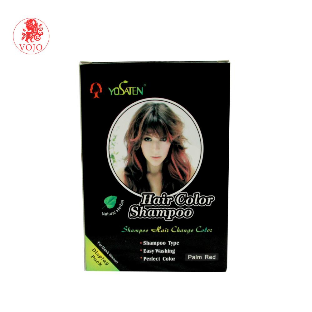 High quality OEM design private label hair dye shampoocolor hair dye cream shampoo magic hair colored just in 15mins
