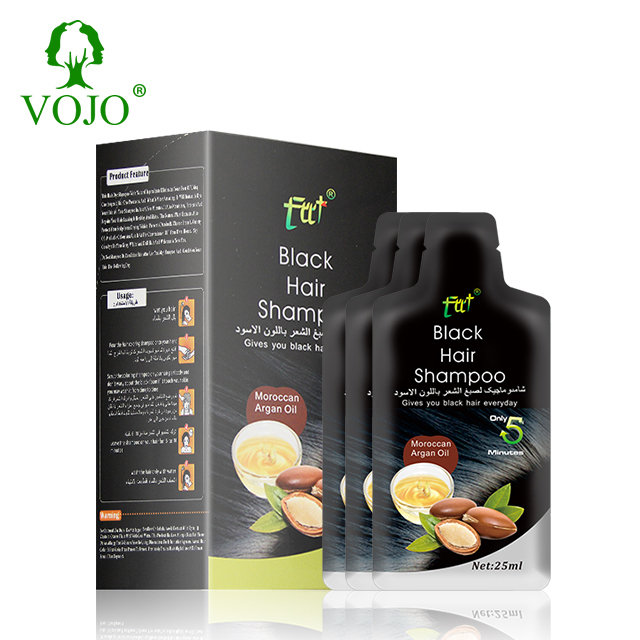 vojohair dye 5 colors and ISO Certification magic hair color only 15 minsnon allergic hair dye