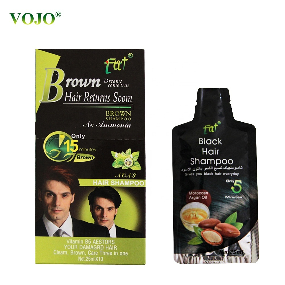 Best Natural HerbalNew product wholseal black Hair dye ture Hair black just FIVE minutes Shampoo And Conditioner