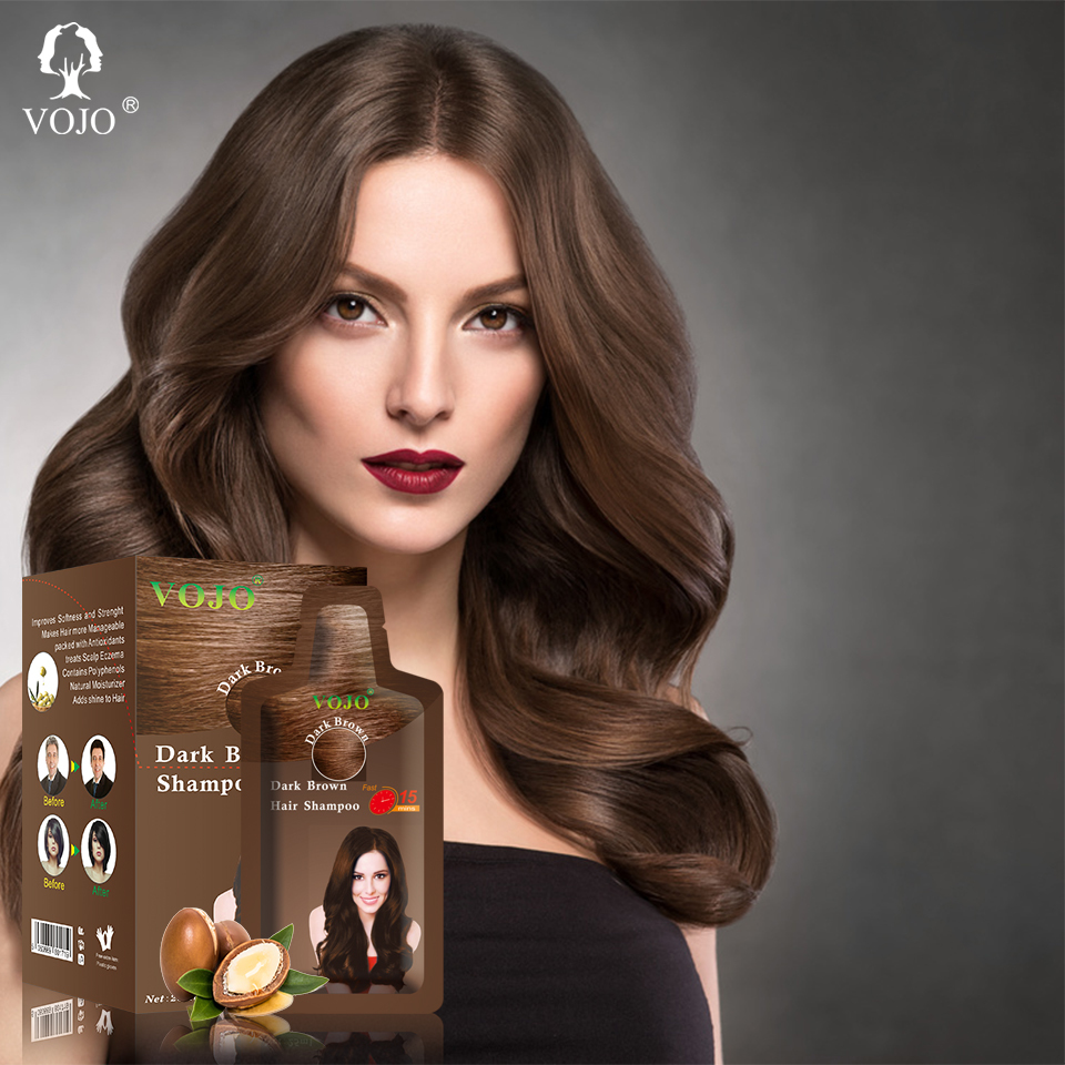 hot sale professional magic fast ginseng instant safe change argan oil hair dyeing color shampoo colour hair dye