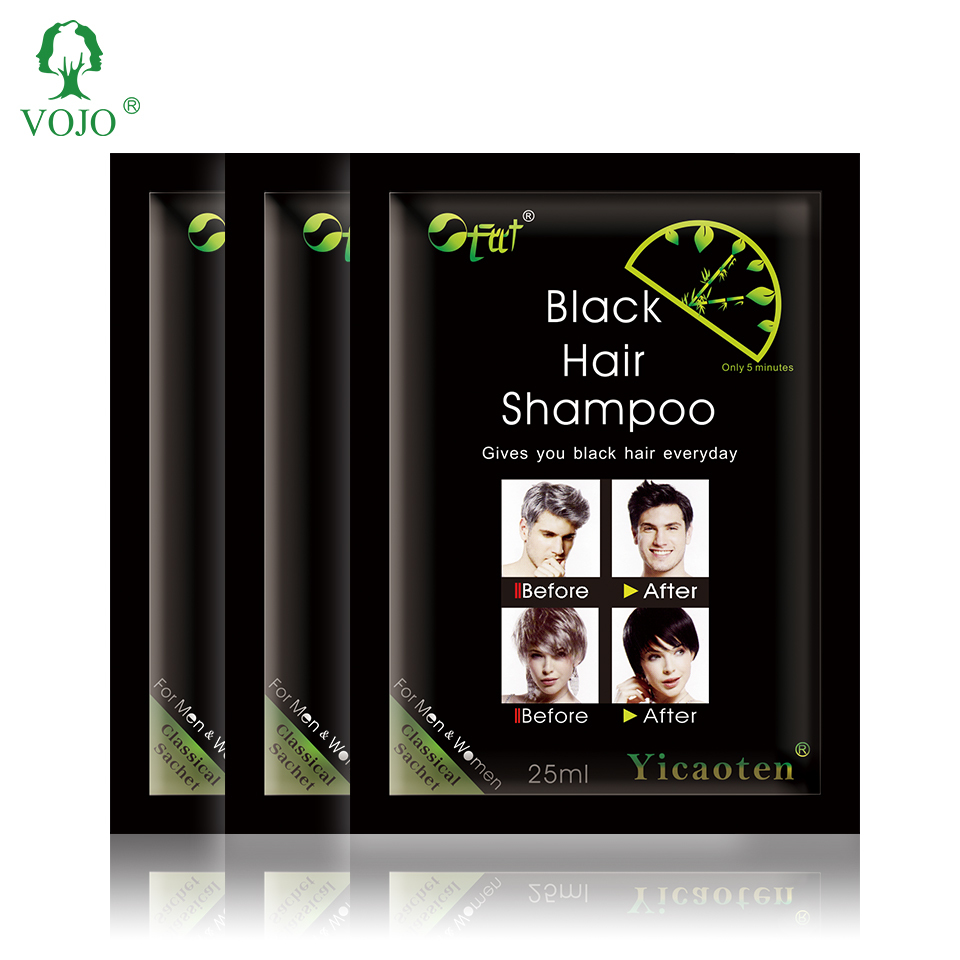 VOJO free permanent natural non allergic organic black hair color shampoo hair dye china hair dye manufacturer oem/odm
