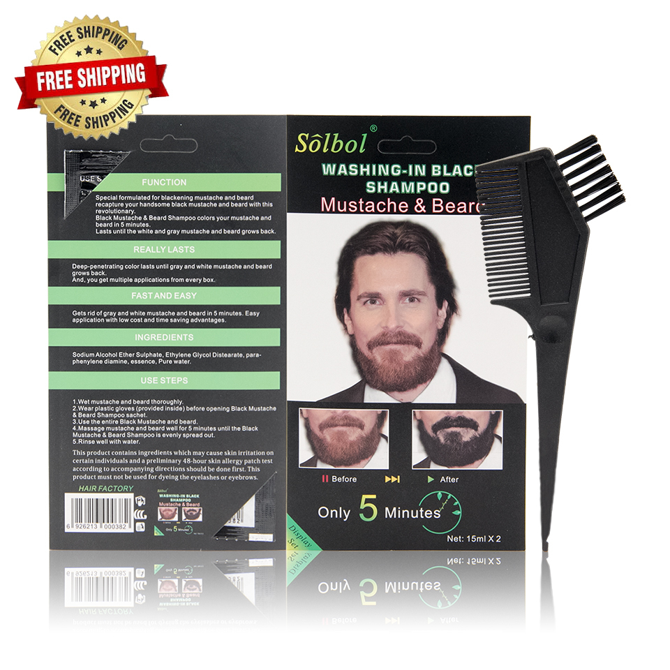 VOJO hot sale factory price beard hair dye touch up stick black and dark brown