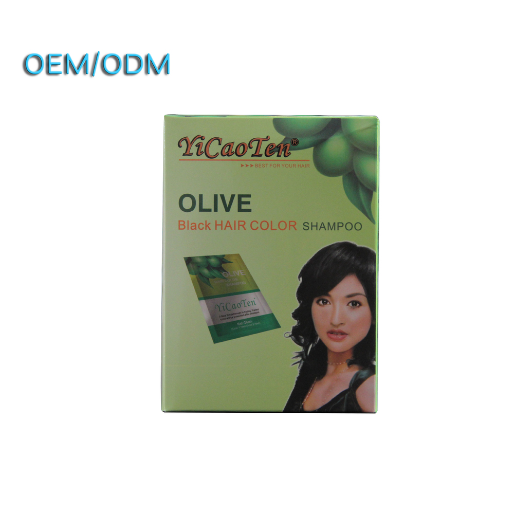 China supplier low cost private label fast black hair shampoo thailand formula wash magic black hair coloring shampoo OEM