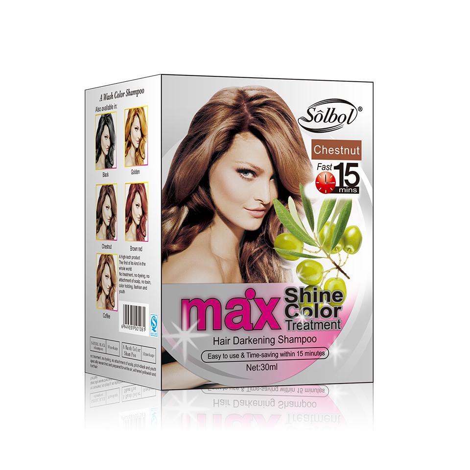 2021 oem logo VOJO ppd free natural hair color hair dye shampoo for men