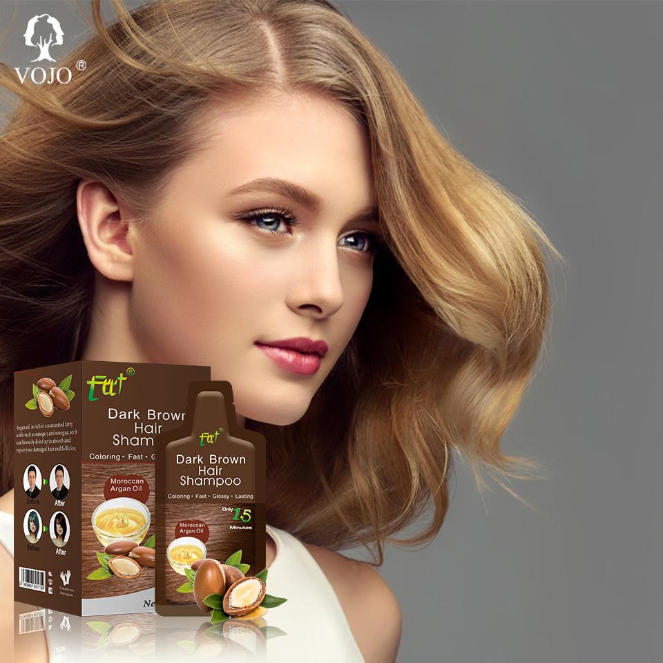 VOJO easy operate keratin shampoo magic herbal best selling private labelhair dye shampoo for wholesale