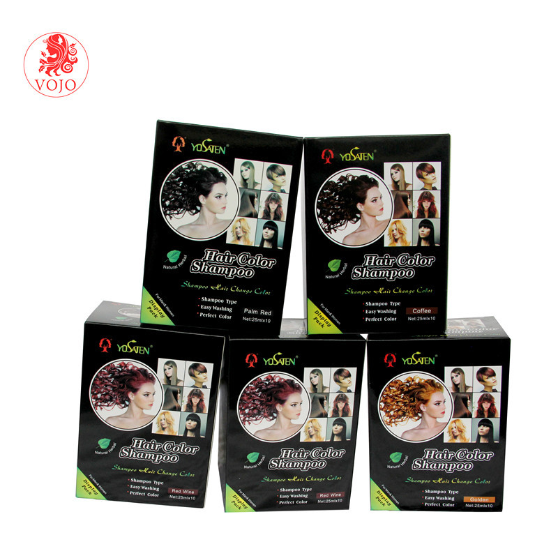 cheapest price natural hair dye shampoo pass GMPC private label non allergic hair colour dye and no side effect hair dye shampoo
