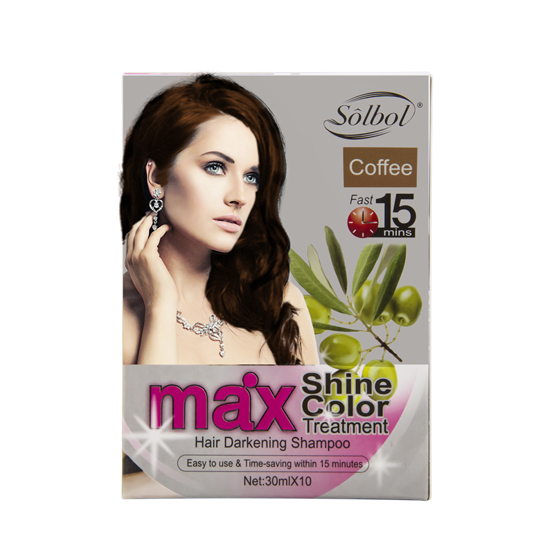 hot sells easy to use and time saving color hair dye shampoo which just in 15 mins hair color change shampoo