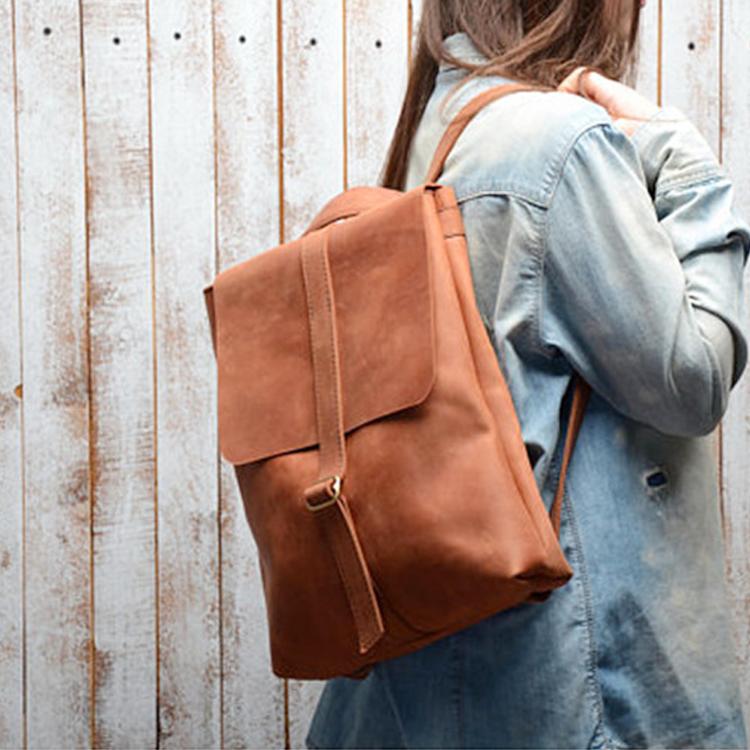 mochilas 2019 new style waterproof leather laptop backpacks for women
