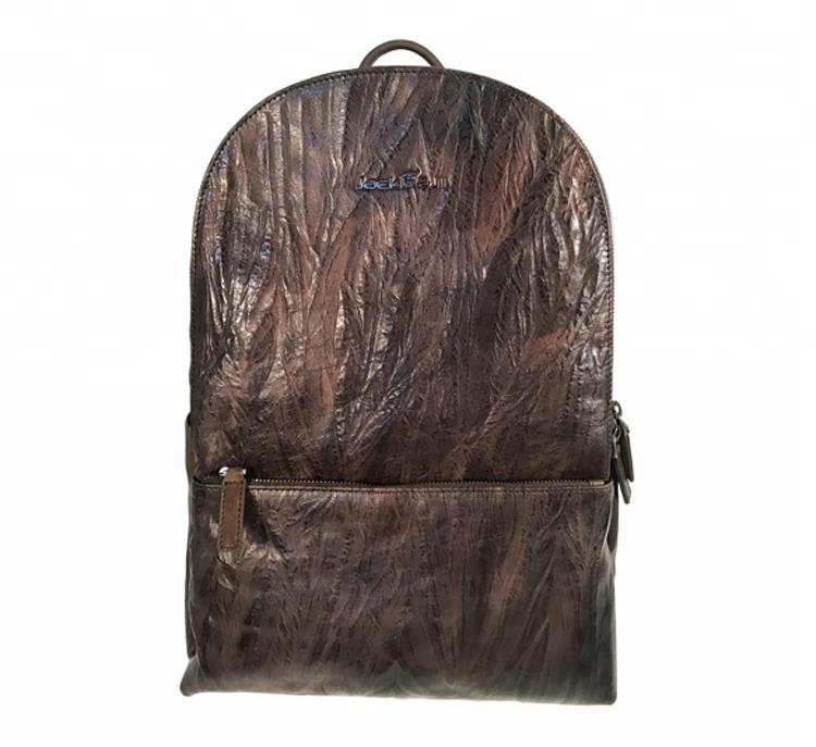 mochilas Custom vintage italian import business genuine leather laptop computer backpack oem with logo