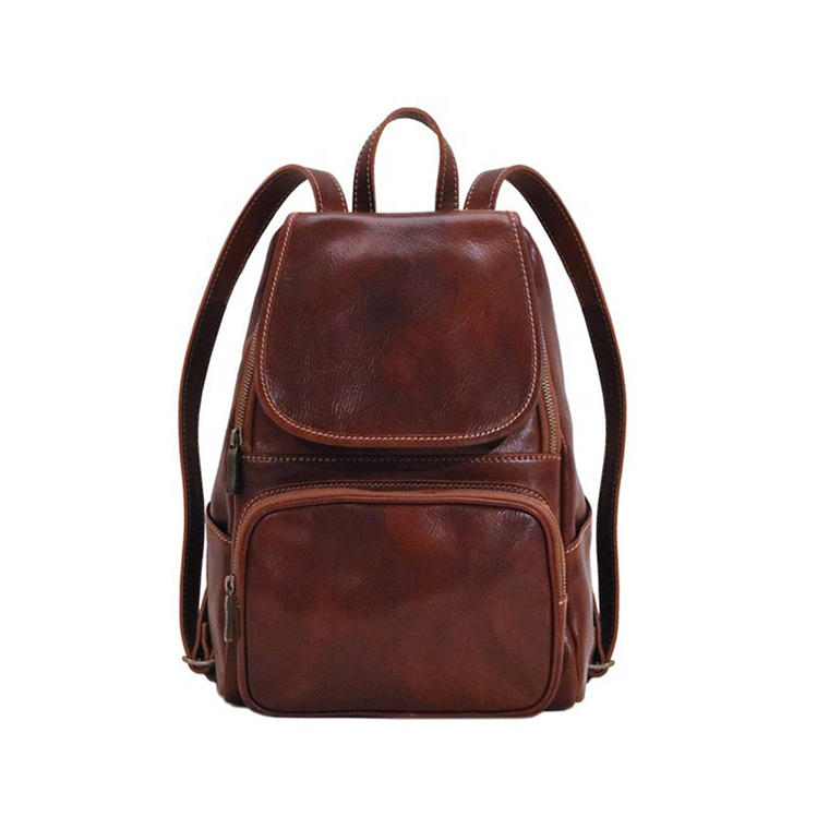 mochilas Hot Sale Top Leather Large Capacity Stylish Backpack for Men