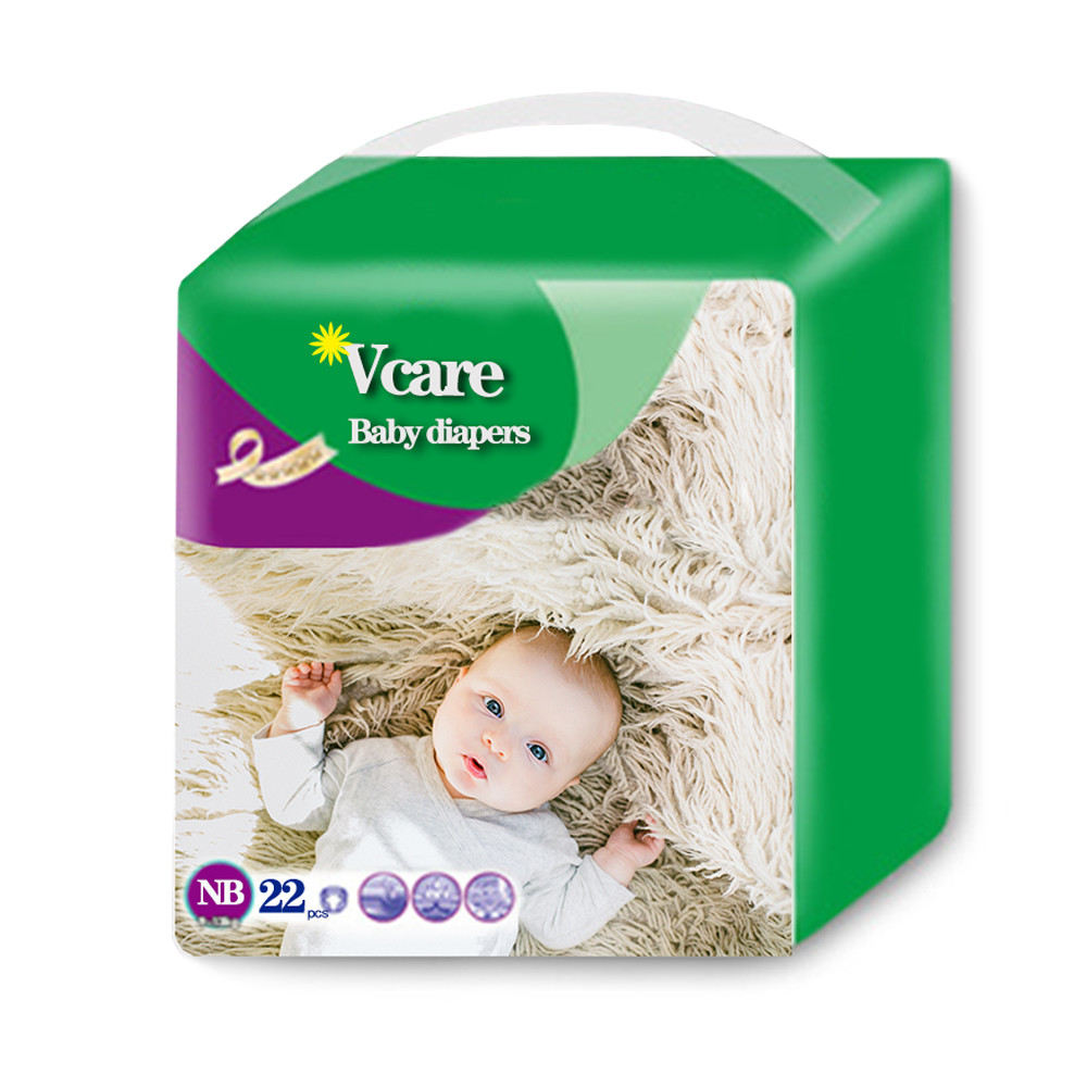 Wholesale ECO Bamboo Biodegradable Disposable Cute Infant Baby Diapers For Sensitive Skin